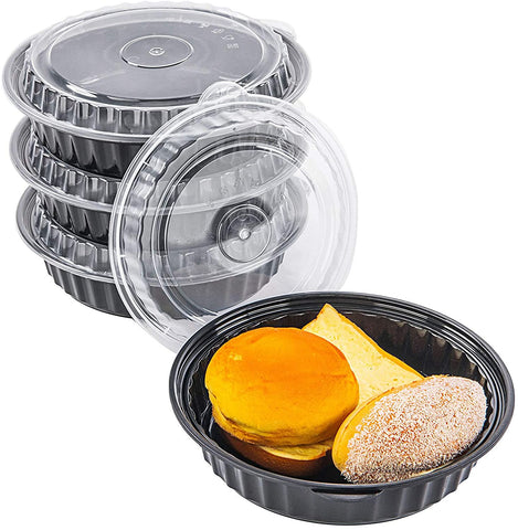 [CTC-8337] Round Meal Prep Bowl Container with Lids - 35oz (50/100/150 Pack)