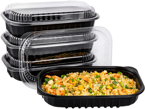 [CTC-SRIB68] 1 Compartment Rectangular Meal Prep Container with Lid - 68oz (50/100/150 Pack)