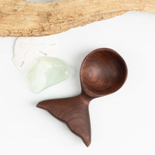 Load image into Gallery viewer, Black walnut whale's tail coffee scoop.
