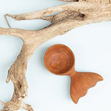 Load image into Gallery viewer, Cherry whale's tail coffee scoop.