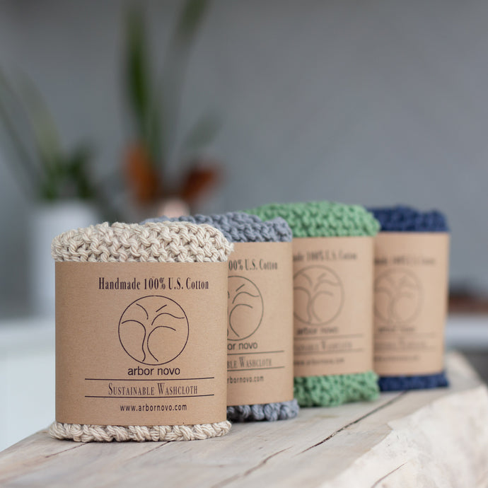 Arbor Novo Sustainable Washcloth Collection
