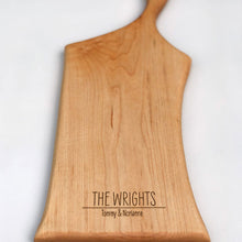 Load image into Gallery viewer, Engraved Arbor Novo maple serving board - The Wrights