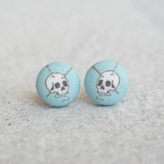 Knit or Die Fabric Earrings