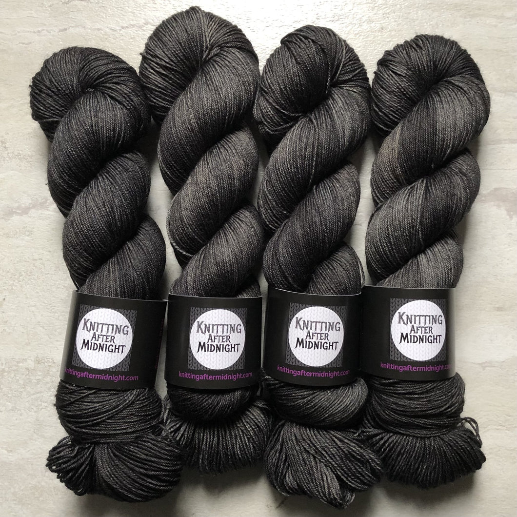 Black No. 1 Sock Yarn - Knitting After Midnight