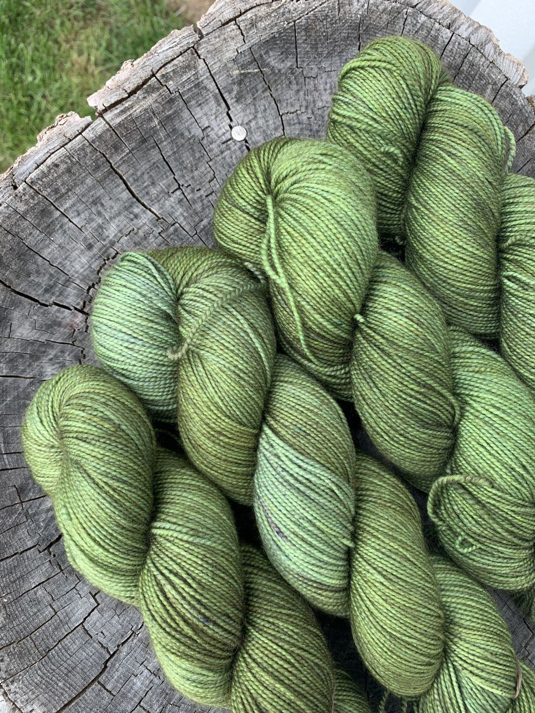 Wool & Vinyl Sock Yarn - Green River