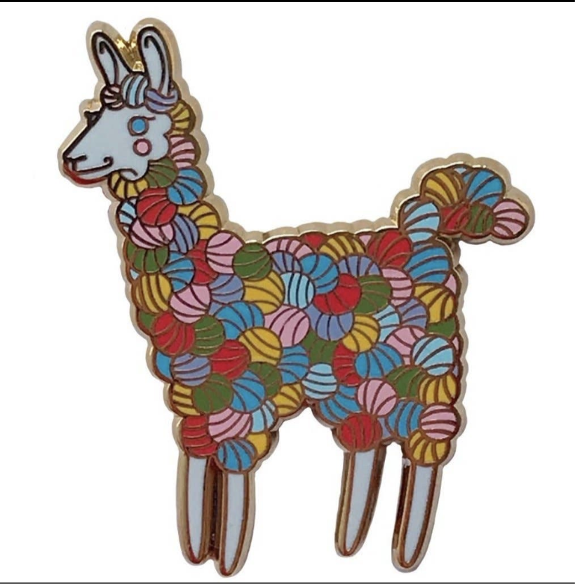 Colorful Yarn Llama Enamel Pin