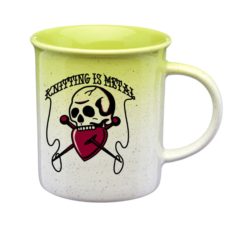 Knitting is Metal Mug