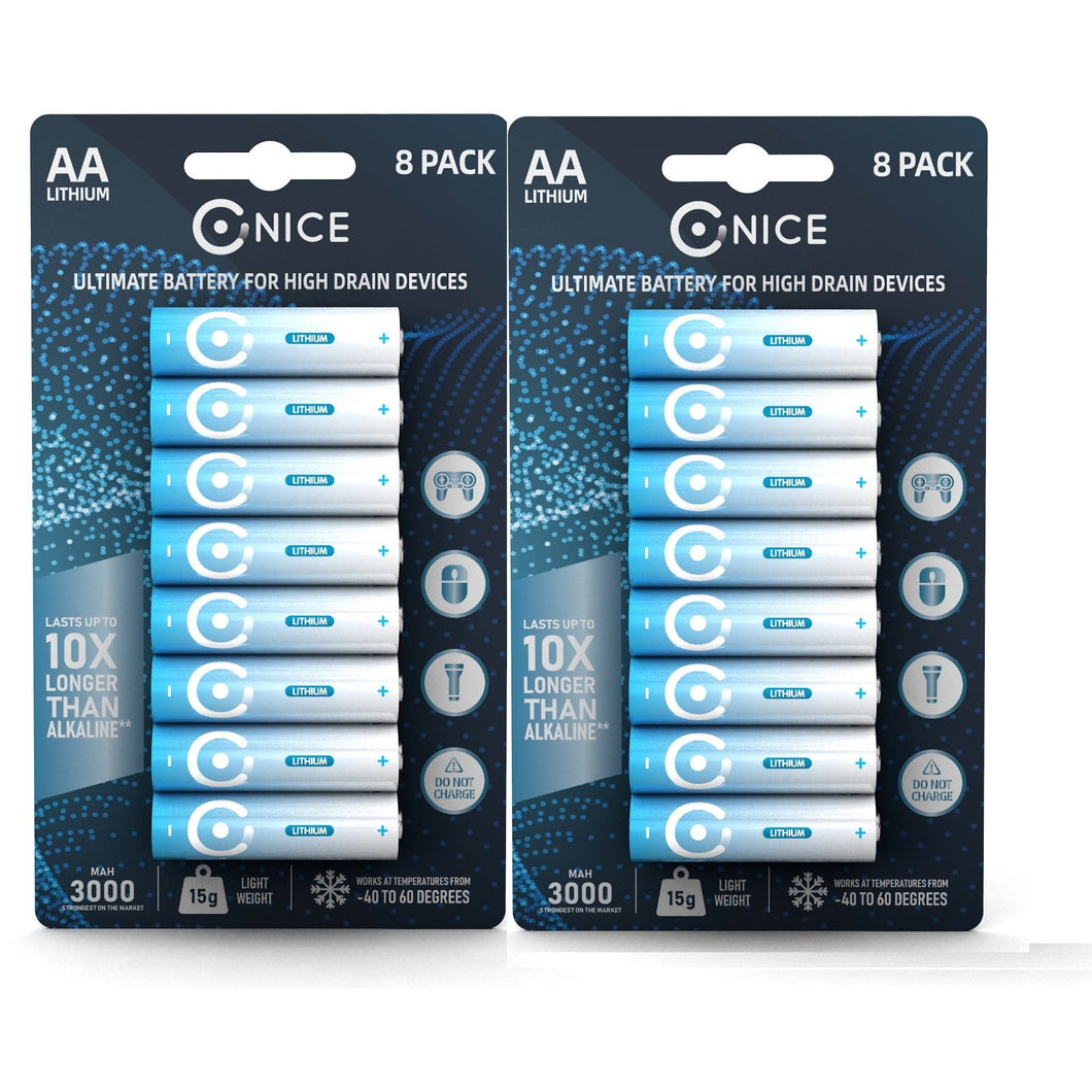 AA Pack of 16 - High Powered Lithium