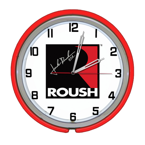 ROUSH PERFORMANCE RETRO DOUBLE NEON CLOCK