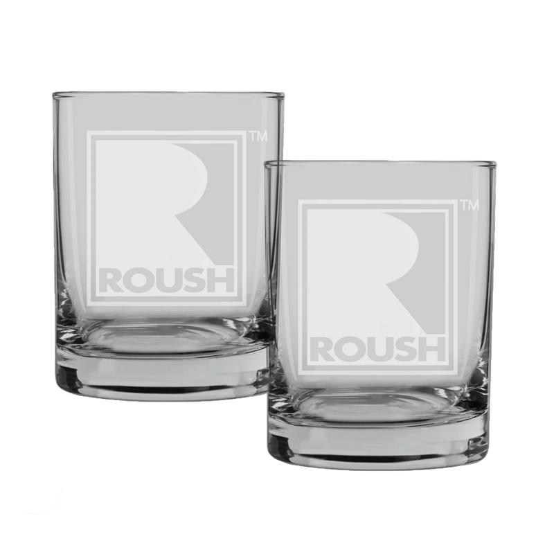 ROUSH Performance Rocks Glass (Set of 2)
