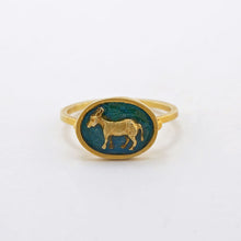 Load image into Gallery viewer, Tiny Friends Donkey Cameo Ring