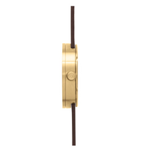 Load image into Gallery viewer, D38 Brass Case Brown Leather Strap