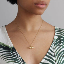 Load image into Gallery viewer, Triceratops Necklace Gold