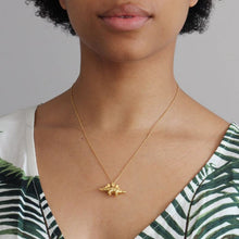 Load image into Gallery viewer, Stegosaurus Necklace Gold