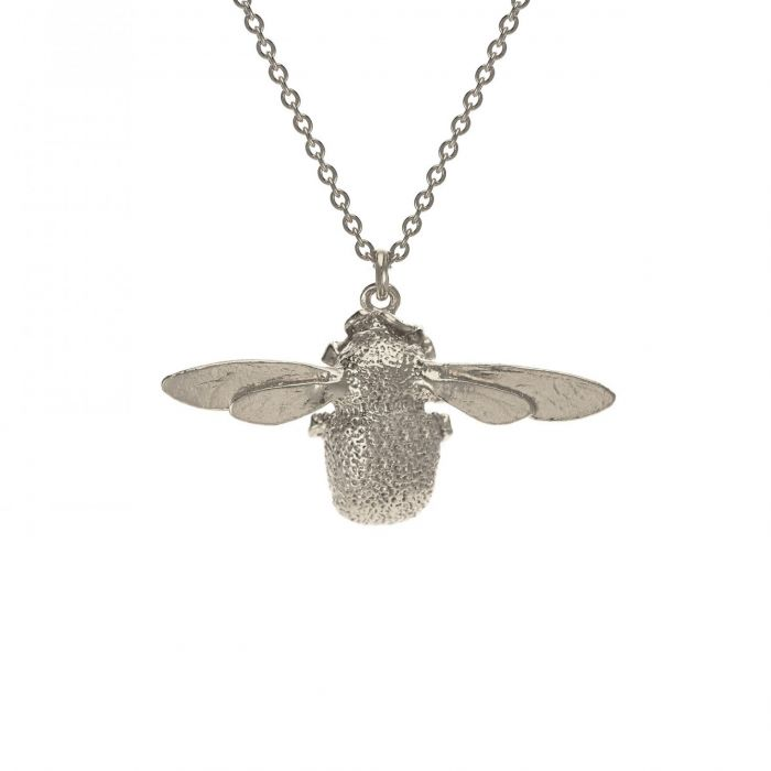 Bumblebee Necklace Silver