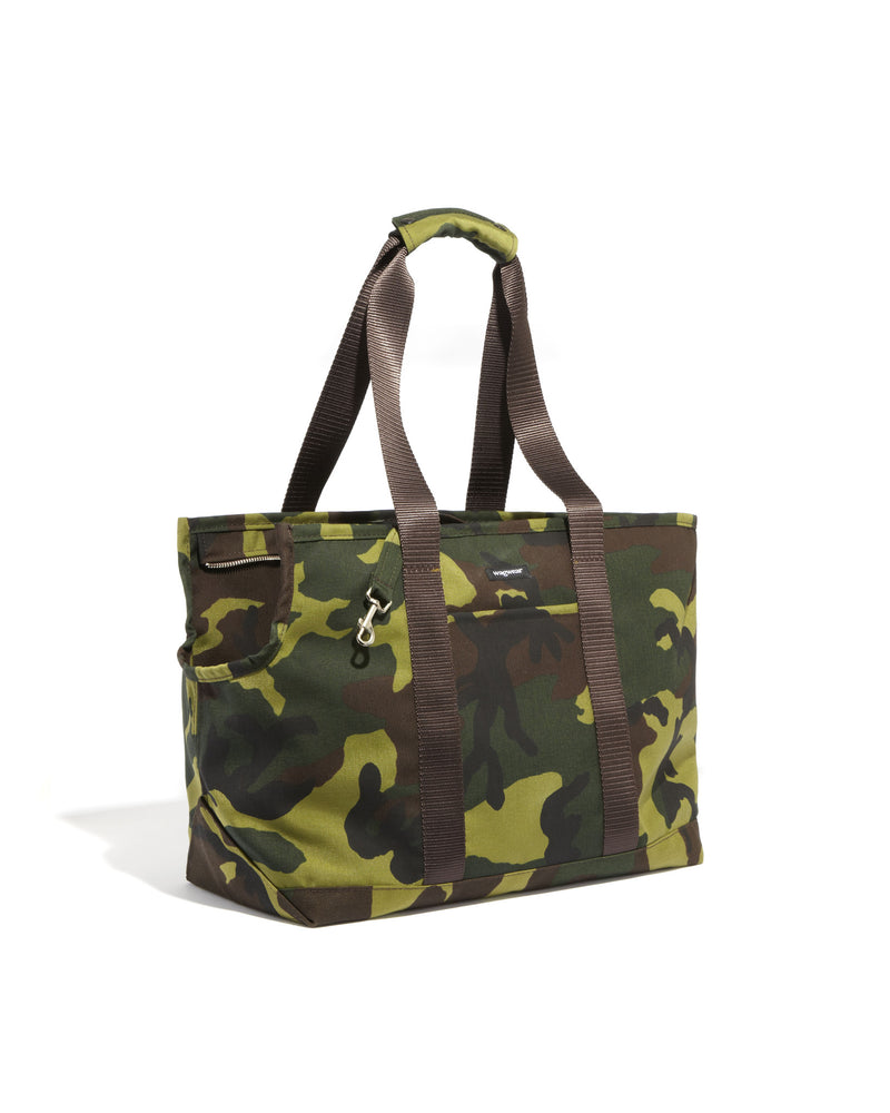 Load image into Gallery viewer, Cordura Camo Zipper-Tote
