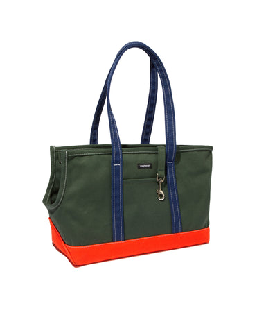 Tri-Color Boat Canvas Carrier - Olive/Orange/Navy