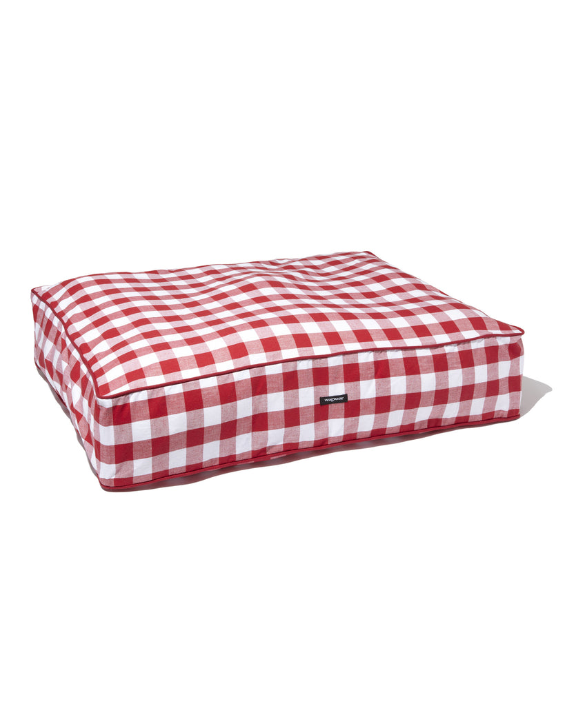 Gingham Check Bed - Red