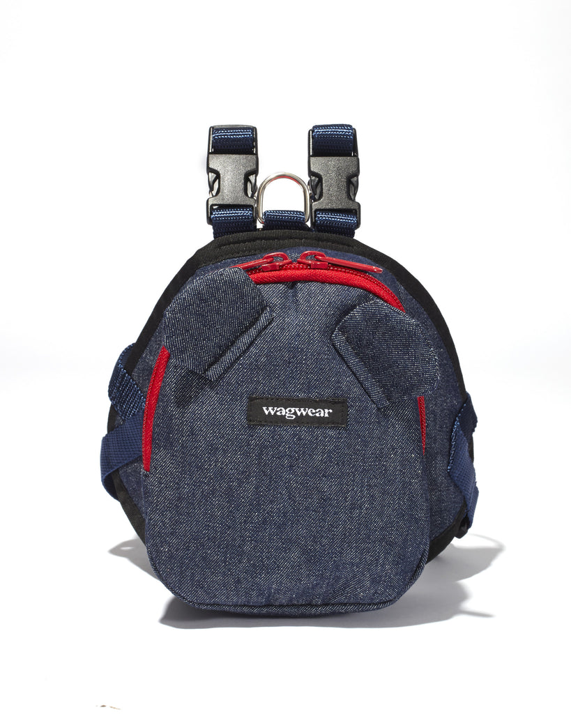 Denim Mini Dog Backpack