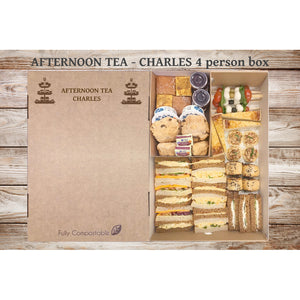 Afternoon Tea (V) - Charles (From £6.25 for 4 person Box)