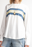 vintage look stripe tee