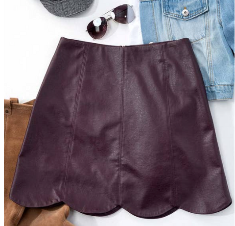 Lindsay Faux Leather Skirt