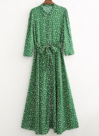 Greta Green Leopard Print Dress