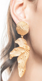 Asymmetrical Lotus Drop Earrings