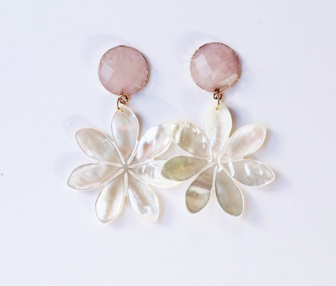 Rose Quartz and Pearl Flower