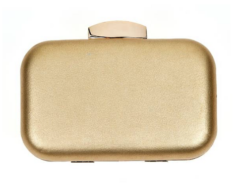 Gold Natalie Clutch