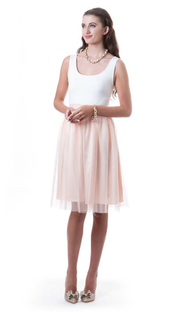 Tori Tulle Skirt in Blush Pink