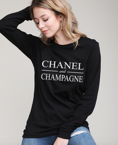 Chanel and Champagne Tee