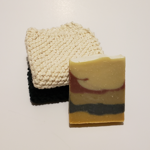 Soap with layers or different colours