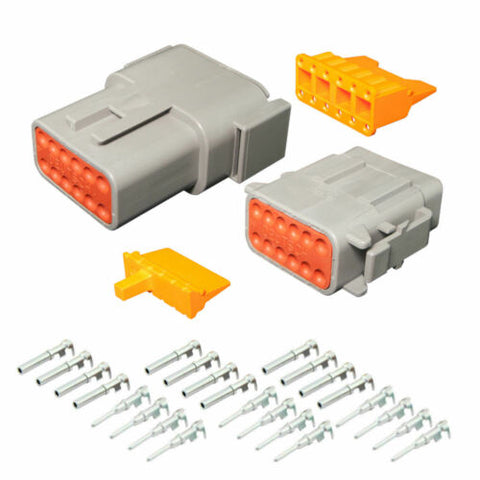 Deutsch 12 Pin Mini DTM Series Complete Connector Kit