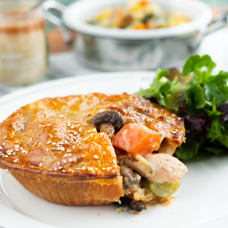 Chicken, Leek & Mushroom Pie Meal Box