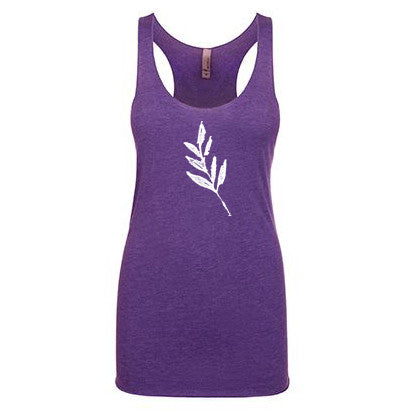 Purple Faded Leaf Tank Top - Women's