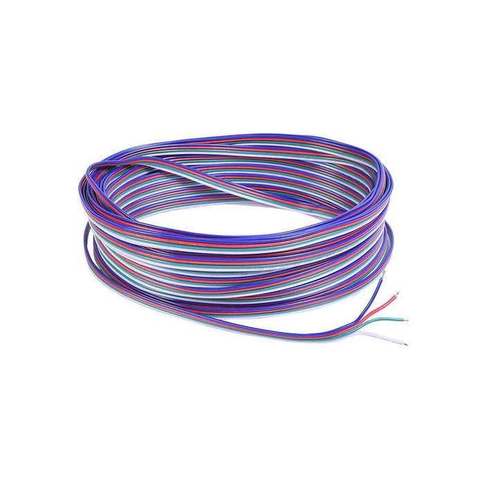 22 AWG 4 Conductor RGB Cable 50 ft - step-1-dezigns