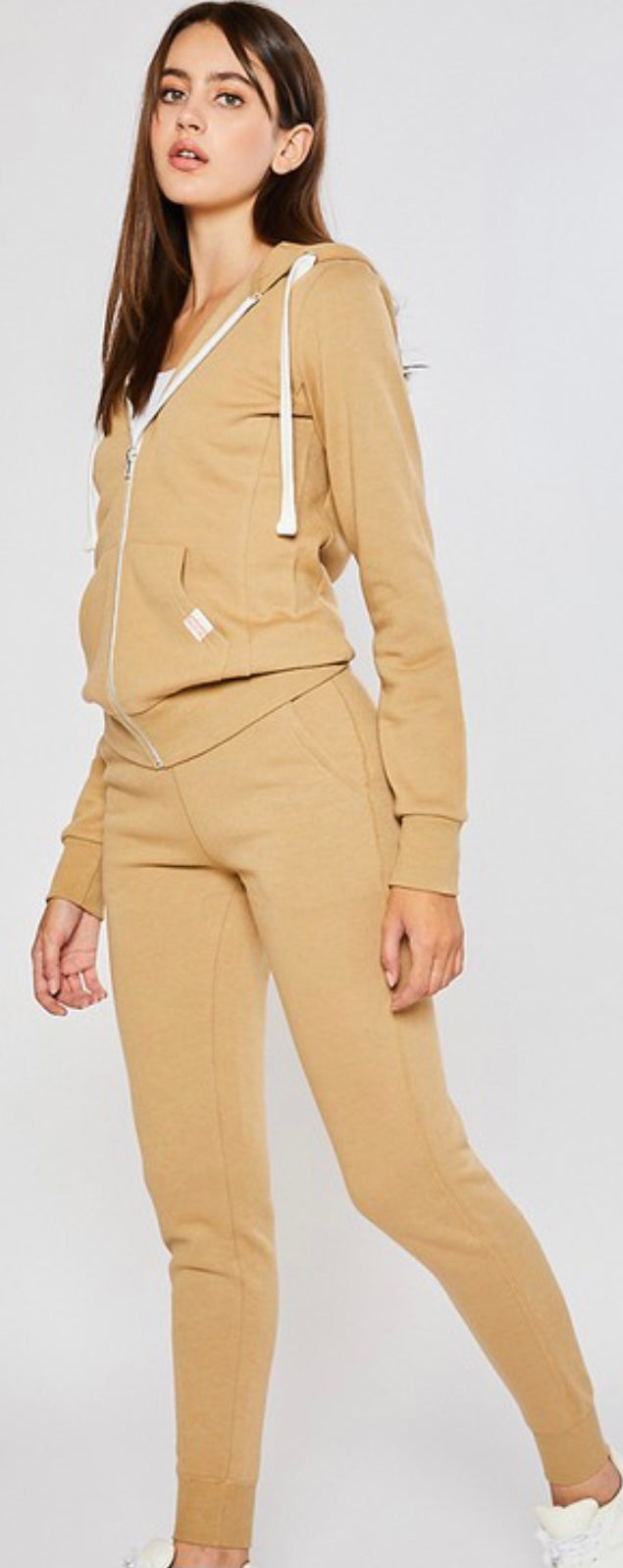 Soft Spot High Waist Joggers In Golden Tan