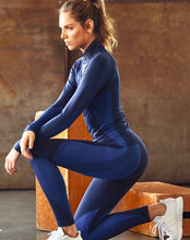 Load image into Gallery viewer, Electric Blue Athletic Leggings & Jacket Set