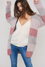 Load image into Gallery viewer, Boston Color Block Cardigan In Mauve