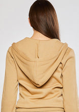 Load image into Gallery viewer, Soft Spot Zip-Up Hoodie Jacket In Golden Tan