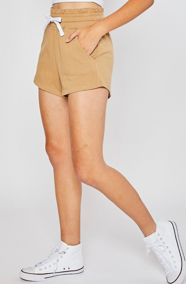 Soft Spot Shorts In Golden Tan