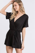 Load image into Gallery viewer, Yes Please Black Romper