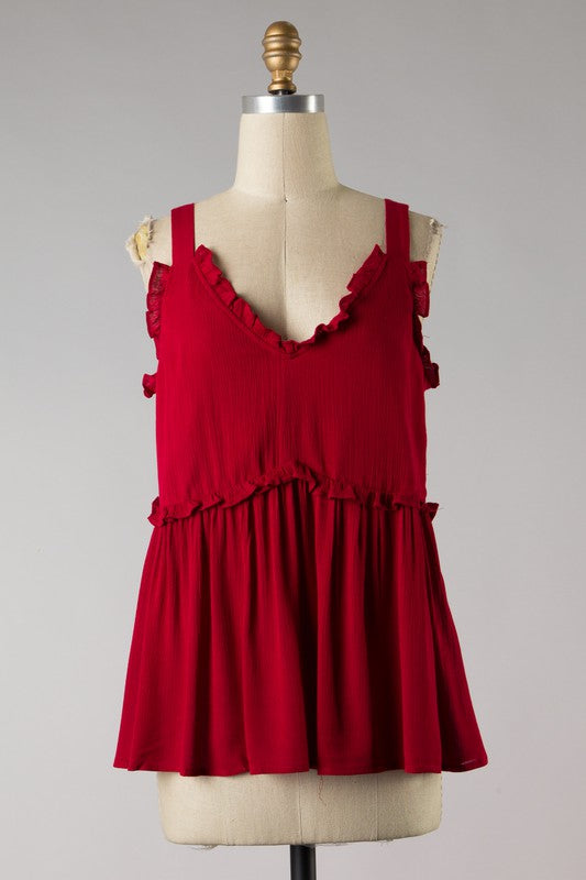 Southern Bell Bright Red Top