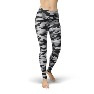 Jean Dark Grey Camouflage Leggings