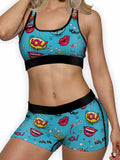 Pop Art Lips Ellie Sports Bra