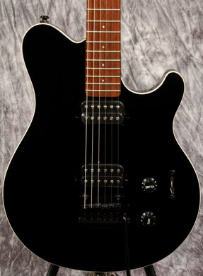 Sterling S.U.B. Series Axis in Black with White Body Binding - Mojo's Music