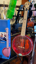 Load image into Gallery viewer, Gold Tone Little Gem Banjo Ukulele (Ruby)