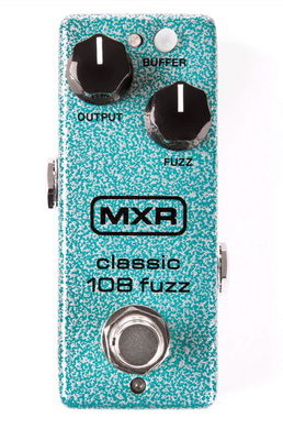The Classic 108 Fuzz features the guts of our BC-108-loaded Fuzz Face® Distortion with modern MXR upgrades and a Buffer switch so that it plays well with wahs.