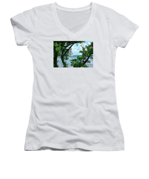 Open image in slideshow, Blue Through the Green - Women's V-Neck